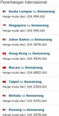 Tiket Murah Penerbangan Internasional ke Semarang