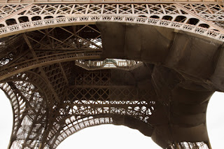 Photo of the Eiffel Tower in Paris from Below