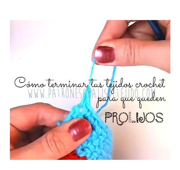 Tutorial como terminar crochet en forma prolija