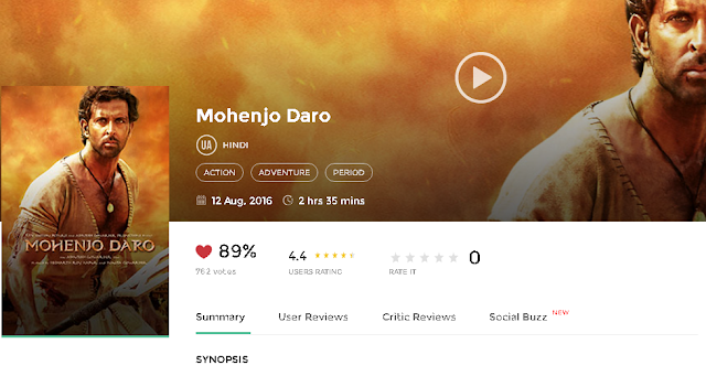 Mohenjo Daro (2016) Full Hindi Movie in HD 720p avi mp4 3gp hq free Download