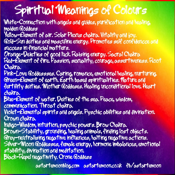 Spiritual Colors And Their Meanings