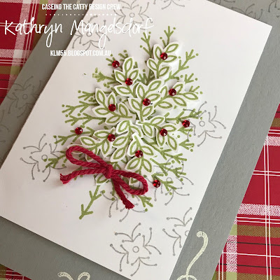 Stampin' Up! Around the Corner, Christmas Card designed by Kathryn Mangelsdorf