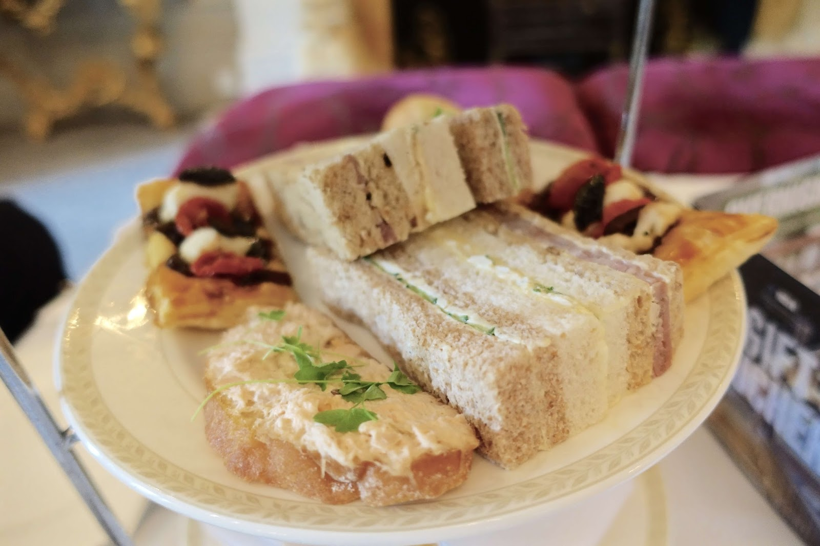 homemade sandwiches afternoon tea