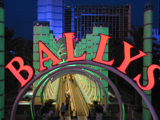 Bally's casino las vegas entry way sign