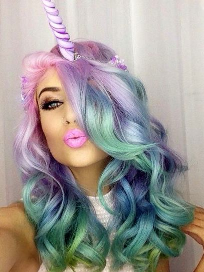 coloracion cabello unicornio 2017