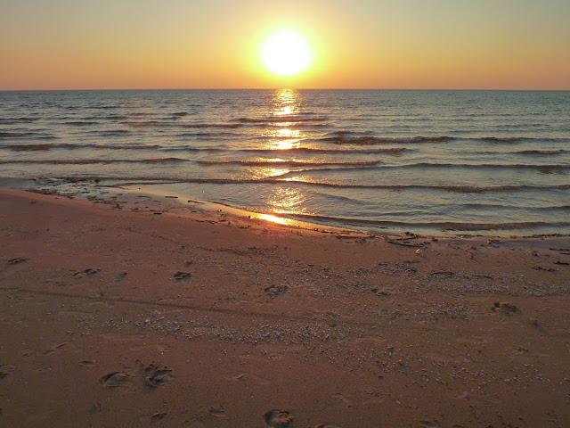 Lago Ontario, puesta de Sol, Estado de Nueva York