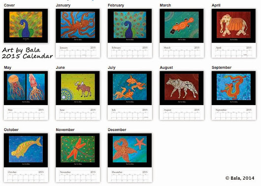 A Life Journey Together: 2015 Art Calendars