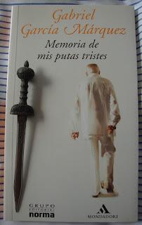 Portada del libro Memoria de mis putas tristes, de Gabriel García Márquez