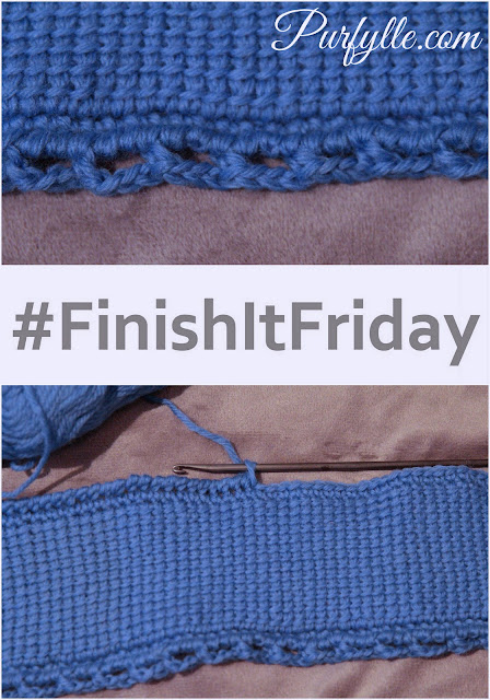 Tunisian Crochet Sampler Join - Finish It Friday