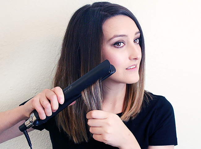 hair styling with the ghd Platinum Styler