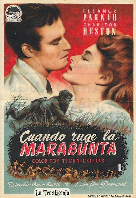 Programa de Cine - Cuando Ruge la Marabunta - Charlton Heston - Eleanor Parker