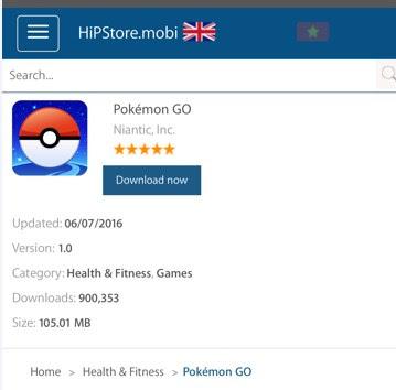 Pokemon Go di HipStore