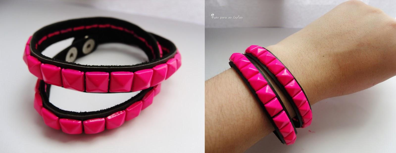 Comprinhas de Outubro de 2013; pulseira rosa