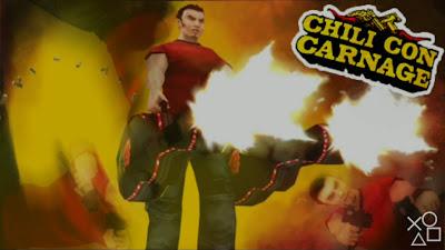 Dan anehnya game ini adalah salah satu koleksi lama PSP saya yang belum pernah saya maink Game:  Chili Con Carnage, Game TPS dengan aksi tembak-tembakan yang seru