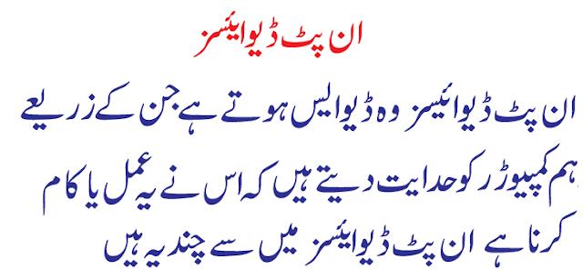 information about computer in urdu