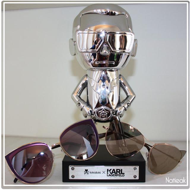 Statut Karl Lagerfeld lunette de soleil cat eye