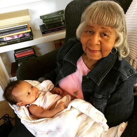grandmother of John Legend meets with her daughter Luna