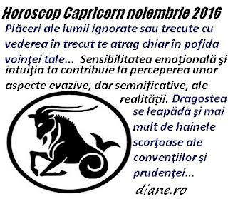 Capricorn noiembrie 2016