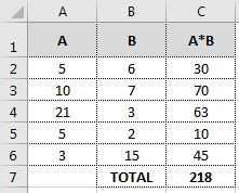 hasil tanpa formula array