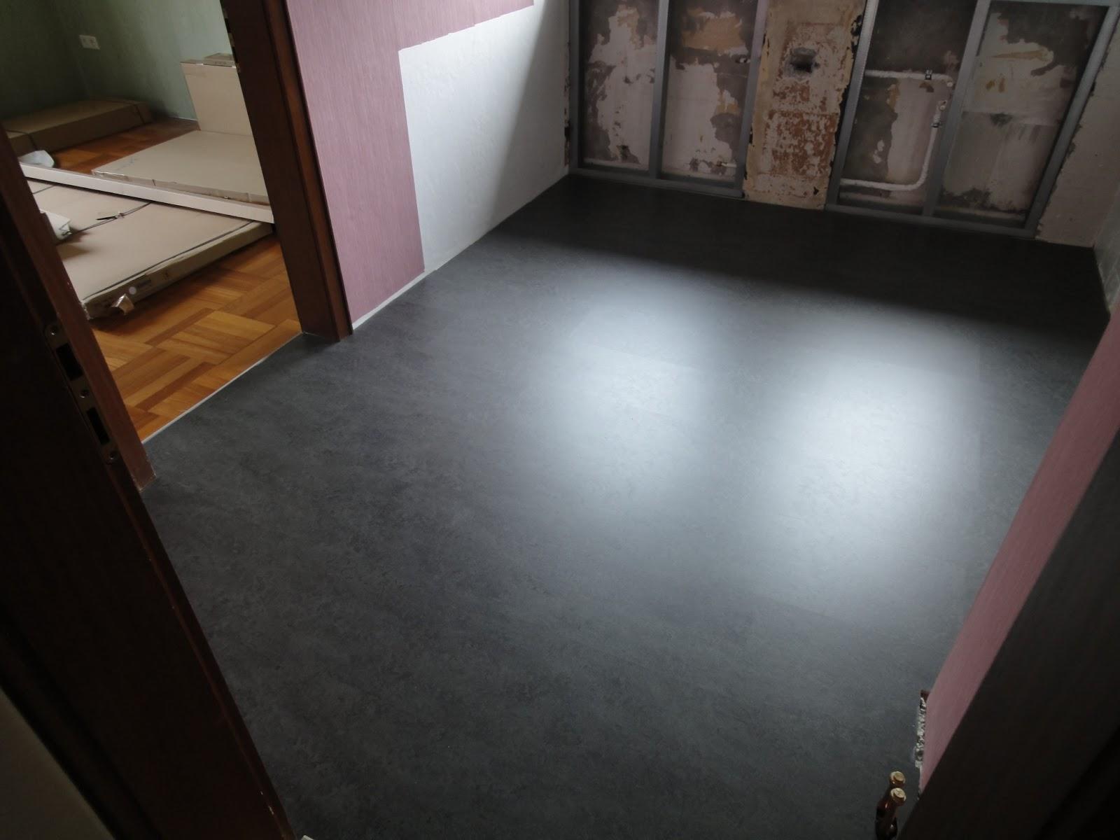crafts co unser neues heim neuer fu boden k che. Black Bedroom Furniture Sets. Home Design Ideas