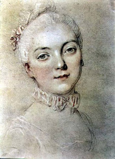 Portrait of Madame du Barry by Francois-Hubert Drouais