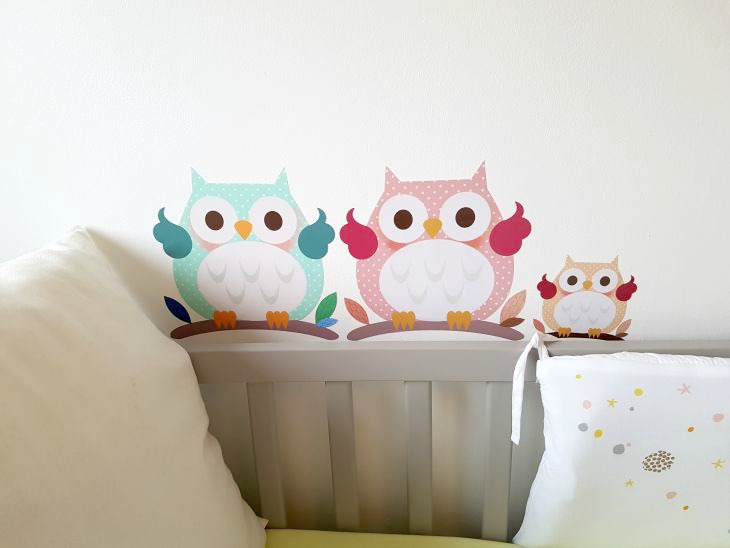 sticker malin famille hibou