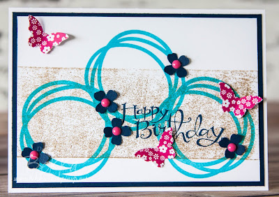 Memories in the Making Butterflies and Flowers Birthday Card