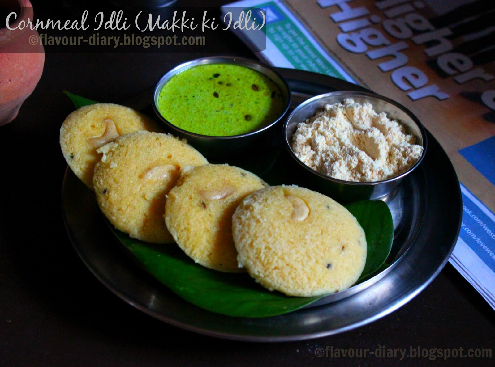 Cornmeal Idli recipe