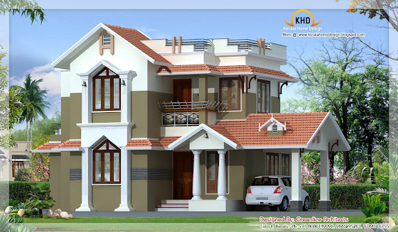 Traditional Mix Contemporary Home - 162 Square Meter (1740 Sq.Ft) - November 2011