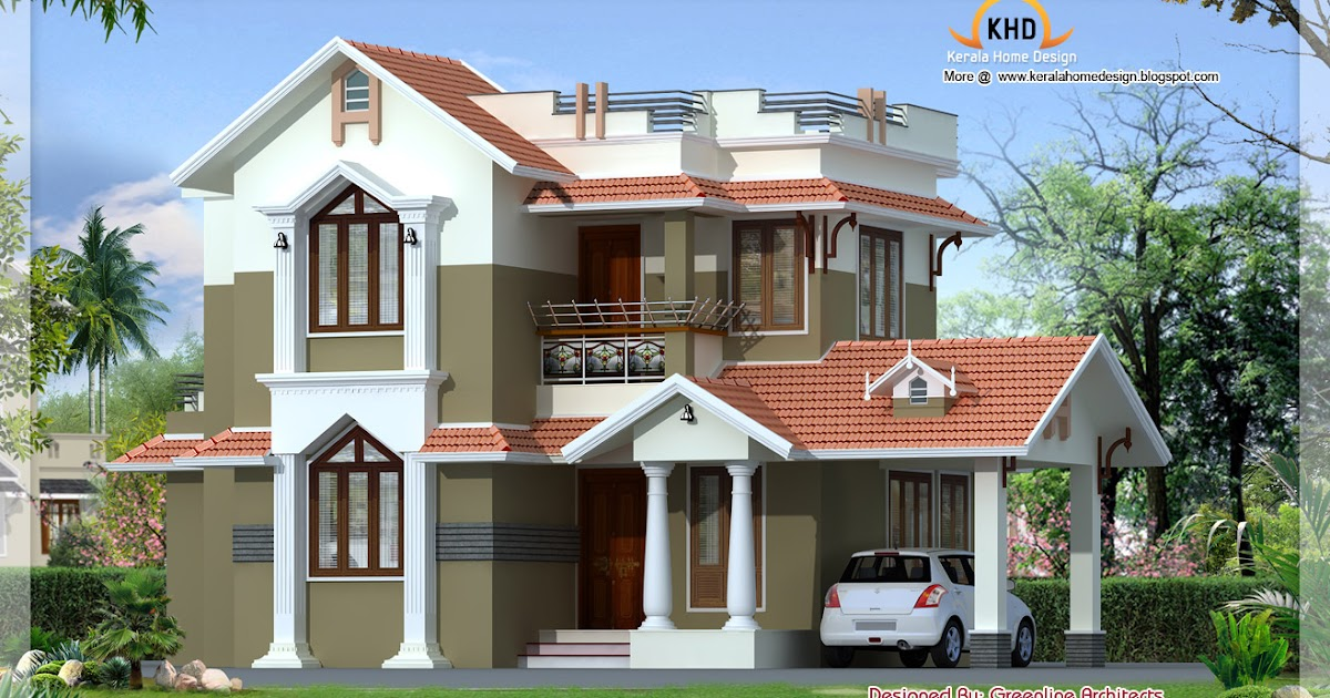 Traditional Mix Contemporary Home 1740 Sq Ft Kerala