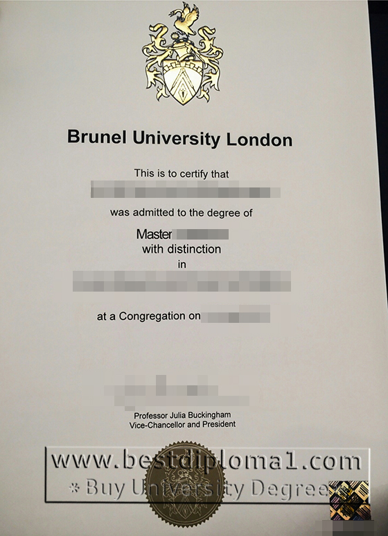 Brunel University London fake diploma
