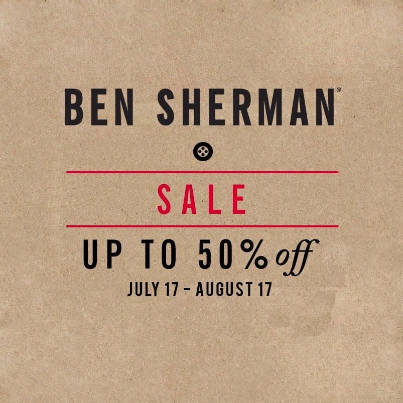 deeb7c46662e Ben Sherman End of Season SALE  July-Aug 2014