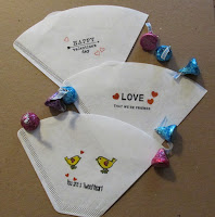 make gift packages from coffee filters
