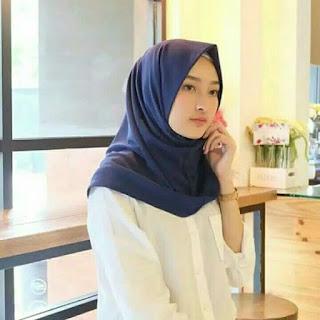 jilbab segi empat instan