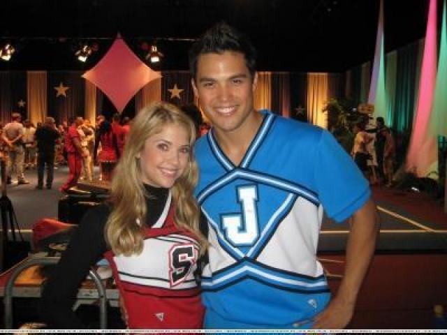 Michael Copon & Ashley Benson