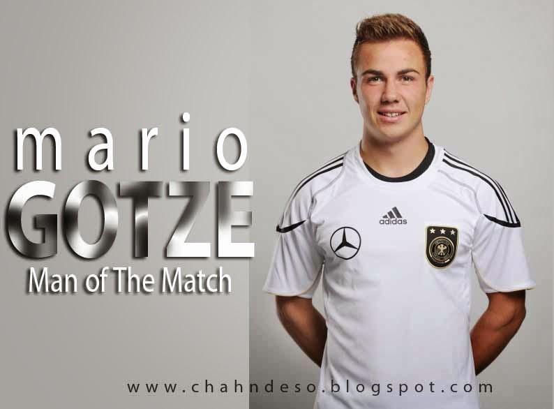 Mario Gotze Terpilih Menjadi Man Of The Match Atau Pemain