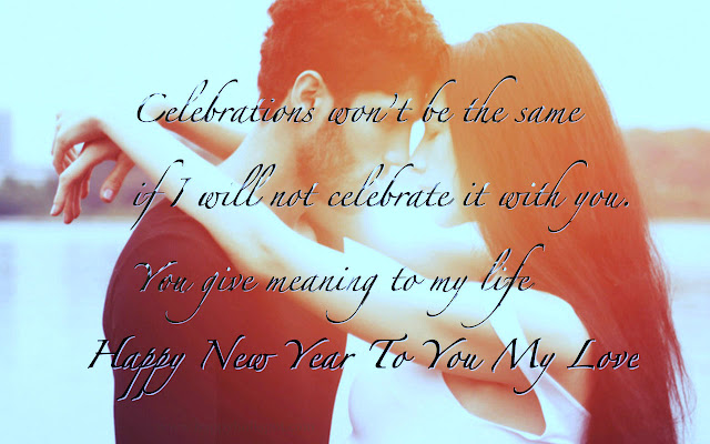 Happy New Year SMS for Lover