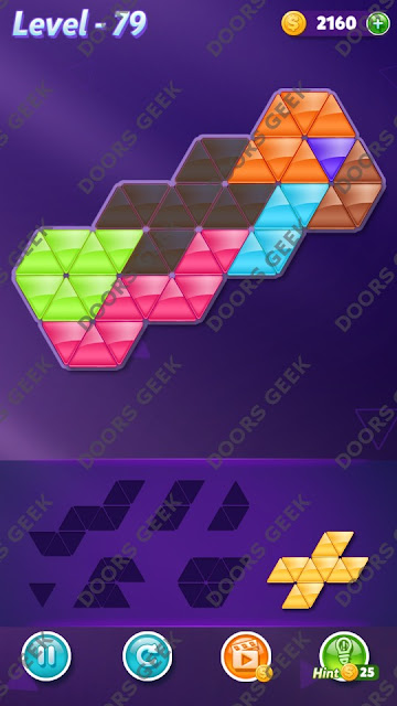 Block! Triangle Puzzle 7 Mania Level 79 Solution, Cheats, Walkthrough for Android, iPhone, iPad and iPod