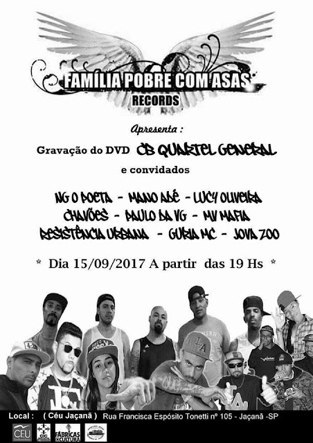 Gravação do DVD Cb Quartel General e Convidados no Ceu Jaçanã