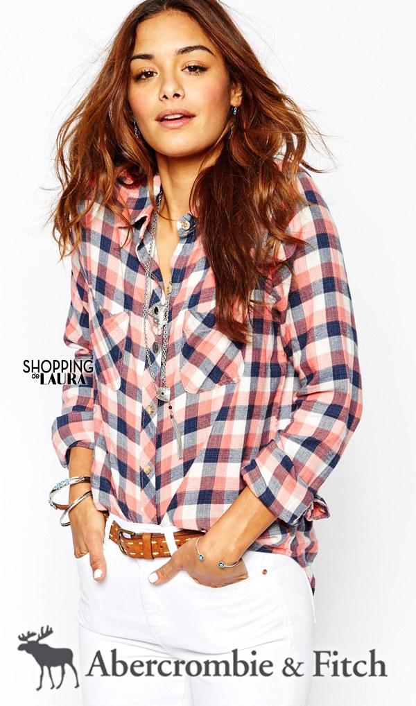 Chemise femme tendance : à carreaux ABERCROMBIE&FITCH
