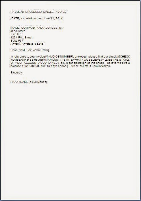 Invoice Payment Cover Letter