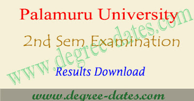 Palamuru university degree 2nd sem results 2018 pu ug 1st year result date