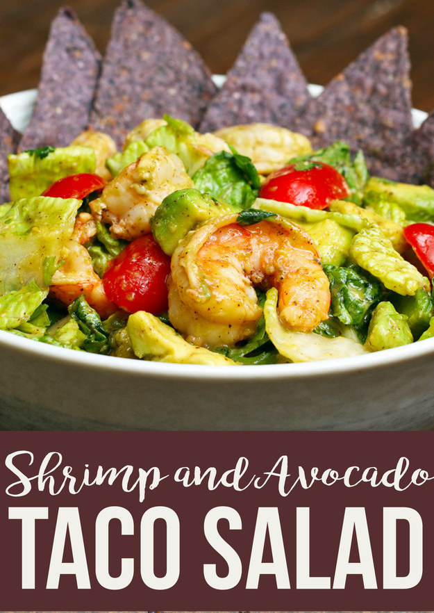 Recipe: Shrimp and Avocado Taco Salad