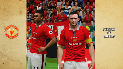 PES 2016 Manchester United Classic Kits by Akmal
