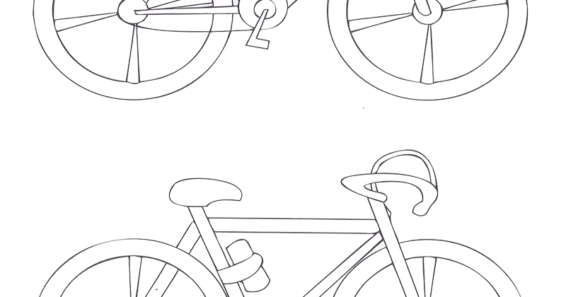Gambar Mewarnai Sepeda Untuk Anak PAUD dan TK