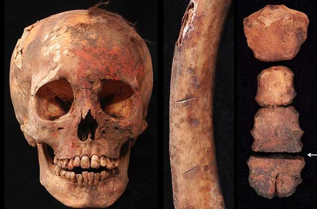 Penampakan Tulang Korban Ritual