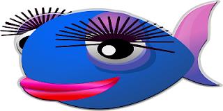 Pesce blu truccato