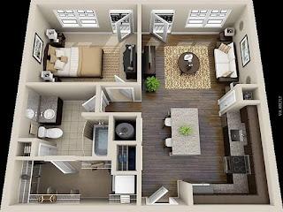 , jasa gambar rumah murah, desain interior rumah minimalis type 36, interior rumah modern