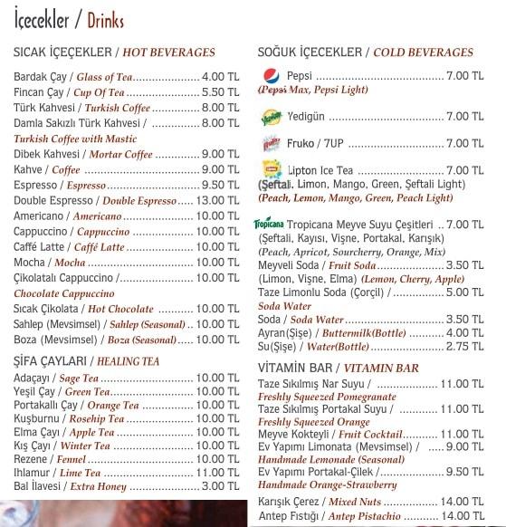 hacı sayid menü fiyatlar