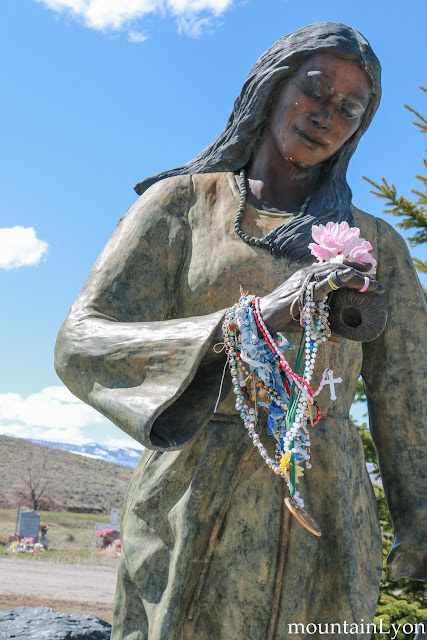 The cemetery where Sacajawea is buried. Or not.